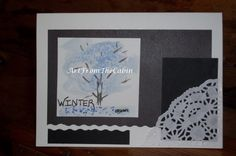 Winter Note Card  Card with Bible Verse  by ArtFromTheCabin
