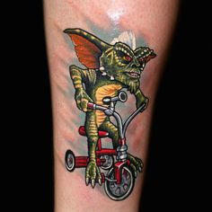Stripe Gremlins tattoo by Chris 51 of Area 51 Tattoo, Springfield, OR & Epic Ink TV A&E