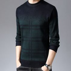 New Fashion Brand Pullovers Thick Slim Fit Jumpers Knitwear Sweaters - bemodanova Mens Knitted Cardigan, Men Sweater, Fashion Brand, New Fashion, Sleeve Styles, Casual, Ideias Fashion, Knitwear, Sweaters