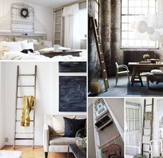 A touch of Luxe: Decorating with ladders