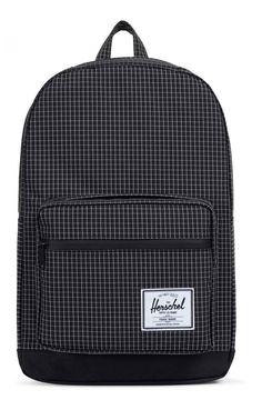 Herschel Pop Quiz Backpack 600D Poly Black Grid