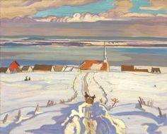 urgetocreate:  Alexander Young Jackson, Winter, Quebec, (1926)