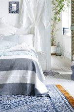 Ellos Home Santa Ana -matto 170x240 cm Sininen - Puuvilla- ja räsymatot | Ellos Mobile