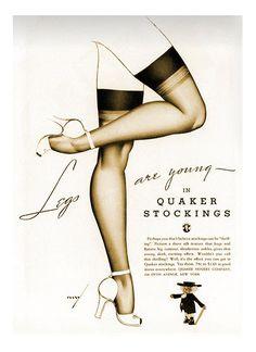 Quaker Stockings George Petty 1938