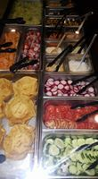 'New salad bar all day. with your dinner. Salad fruits and desserts. Salad Bar, Mexican Dishes, Cravings, Beef, Dinner, Fruit, Desserts, Food, Meat