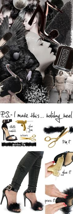 P.S.- I made this...Holiday Heel inspired by #NinaRicci #PSIMADETHIS #DIY