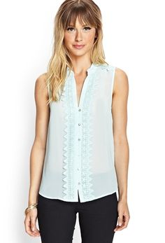 Embroidered Georgette Top from FOREVER 21 on Catalog Spree