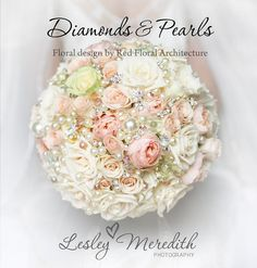 I love this!! Sort of a combo of a broach bouquet and flower bouquet! Perfect!!