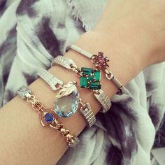 ROCAILLE one of a kind bracelets.