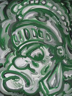 Michigan State Painting by Justin Patten by stormstriker on Etsy