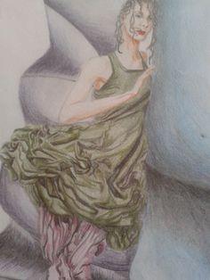 Dibujo a lapiceros de colores realizado por Alicia Ruiz