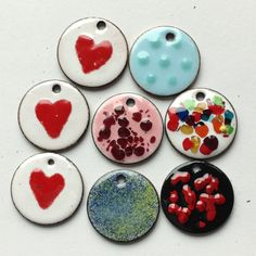 My first few experiments in enameling.