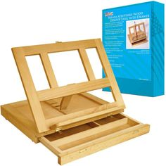 Portable Adjustable Wood Desk Easel with Drawers Will
