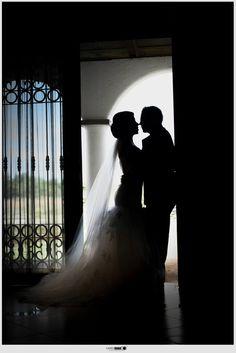 fotografia novios boda silueta
