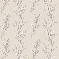 Pussy Willow Natural Floral Wallpaper from Laura Ashley