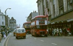 Sutton High Street Sutton Surrey England in the London Bus, Old London, Sutton England, Sutton Surrey, Routemaster, London History, London Transport, Croydon, Back In Time