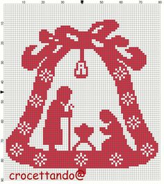 Cross Stitch Borders, Cross Stitch Designs, Cross Stitching, Cross Stitch Embroidery, Cross Stitch Patterns, Christmas Afghan, Christmas Cross, Diy Christmas Gifts, Pixel Crochet Blanket