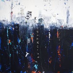 TEXTUS- Abstract Painting- Oil & Cold Wax- by Cristina Del Sol