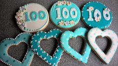 Birthday cookies for an elderly lady. Yes, 100 years!