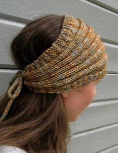 Free Knitting Pattern for I Got Hair, Baby Headwrap - Easy kerchief or headwrap knit with knit, purl, and increases and decreases. Designed by MayaB.Pictured projectby windybrookspinner who made some mods.