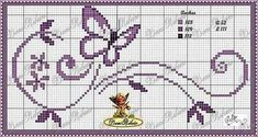 Cross Stitch Alphabet Patterns, Cross Stitch Letters, Cross Stitch Heart, Cute Cross Stitch, Cross Stitch Animals, Cross Stitch Designs, Stitch Patterns, Butterfly Cross Stitch, Cross Stitch Flowers