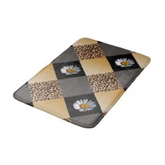 Tiled Daisy Leopard Animal Print Texture Squares