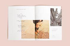 Handwriting, imgery, graphic design, layout. Loeffler Randall by RoAndCo.