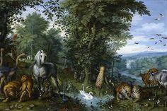 Эдемский сад с грехопадением. Ян Брейгель Старший