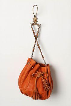 Cara Cara Bag (Anthropologie) by tcklol Chanel Fashion, Fashion Shoes, Chanel Style, Orange Bag, Beautiful Bags, Fashion Handbags, Clutch Bag, Bucket Bag, Bag Accessories
