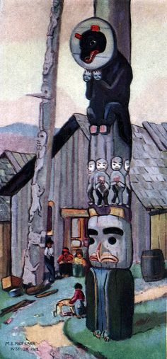 The Totem of the Bear and The Moon, 1912.
