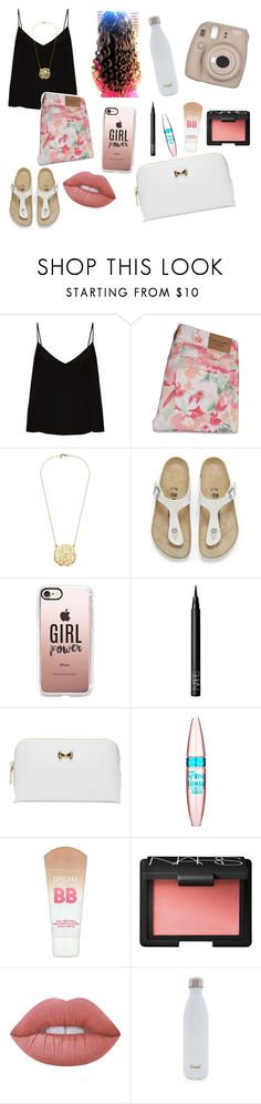 """""""Your the reason I'm up at dawn, just to see your face"""" by emily-wollan ❤ liked on Polyvore featuring Raey, Abercrombie & Fitch, Cullen, Birkenstock, Casetify, NARS Cosmetics, Ted Baker, Maybelline, Lime Crime and S'well"""