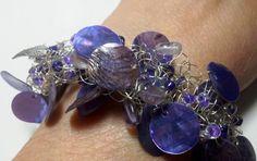 Knitted braceletPurple Rain by KathsHats on Etsy, $10.00