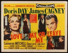 LOVE ME OR LEAVE ME 1955 Doris Day as famed Ruth Etting, James Cagney!