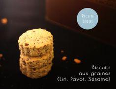 Biscuits vegan aux graines (Lin, Pavot, Sésame)