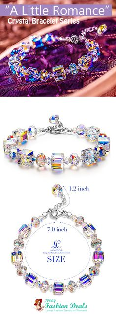 "LadyColour ""A Little Romance"" Crystal Bracelet Series, Made with SWAROVSKI Crystals"