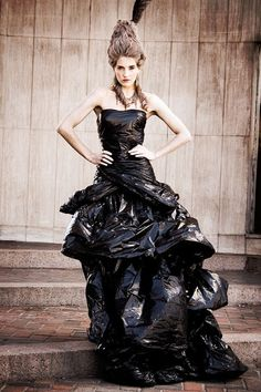 garbage bag dresses - Google Search