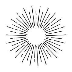 Sun rays hand drawn, linear drawing by Drum-magic on Sun Drawing, Drawing Tips, Sun Tattoos, Tribal Tattoos, Sun Rays Tattoo, Celtic Tattoos, Tiny Sun Tattoo, Sleeve Tattoos, Tatoos