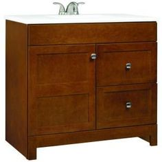 RSI Home Products Artisan 36 in. Vanity with Cultured Marble Vanity Top, Chestnut (PPARTCHT36DY) at Remodelr.com