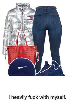 """""""❤️⚪️💙"""" by fashionkilla-lex ❤ liked on Polyvore featuring NIKE, MCM and Nike Golf"""