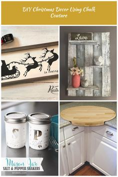 DIY Christmas Decor Using Chalk Couture is so easy! This is a handmade home decor sign that is perfect for your Christmas home decor. DIY home decor To Sell DIY Christmas Decor Using Chalk Couture Handmade Signs, Handmade Home Decor, Diy Home Decor, Christmas Home, Christmas Crafts, Christmas Decorations, Sell Diy, Home Decor Signs, Rustic