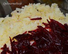 QulinarnePasje: Wigilijna sałatka warstwowa - Szuba Cabbage, Grains, Rice, Vegetables, Food, Essen, Cabbages, Vegetable Recipes, Meals