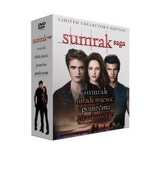 Sumrak saga 4DVD specijal (Twilight + Twilight Saga: New Moon + Twilight Saga: Eclipse + Twilight saga: Breaking Dawn ,1 dio). www.tisakmedia.hr