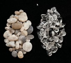Cape May diamonds - left - raw right - polished. Found only on Sunset Beach in Cape May Point!