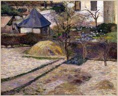 Vue sur le jardin à Rouen Paul Gauguin - 1884 Portland Art Museum, Oregon