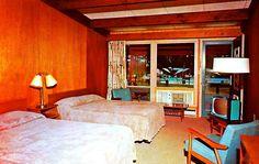 Vintage motel room.
