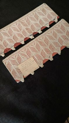 e3413d93d99 Victorian Pair Antique Knitted Lace Sample Sampler Mounted On Card Germany  Provenance by TheGatheringVintage on Etsy
