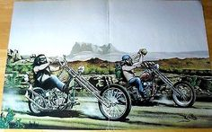 DAVID MANN Easyriders Chopper Panhead Classic Motorcycle Poster SNAKES and BOTA