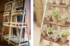 6 ideas para utilizar escaleras de madera en la decoración de tu boda   Bodas con detalle - Blog de bodas con ideas para una boda original