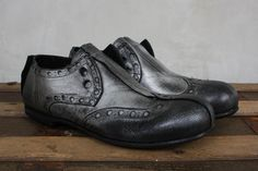 Metallic Slip On Brogue in Faggio - Rundholz Mainline