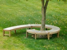 Semi Circular Bench Tree Seat Round Teak M Brand Image With Cool Garden Circle Plans Deck Around Trees, Patio Trees, Landscaping Around Trees, Garden Trees, Backyard Landscaping, Landscaping Ideas, Tree Seat, Tree Bench, Palet Exterior